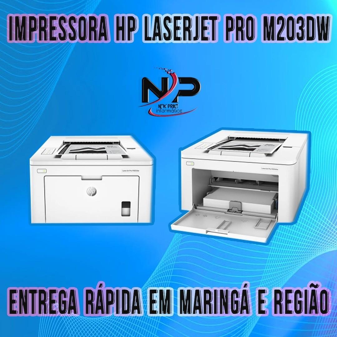 IMPRESSORA HP LASERJET PRO M203DW 110V-127V