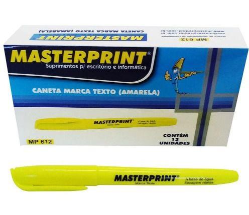 MARCA TEXTO MASTERPRINT AMARELO CX12 - MP612