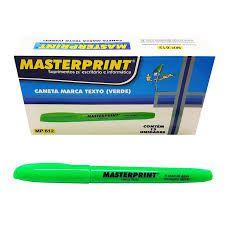 MARCA TEXTO MASTERPRINT VERDE CX12 - MP612