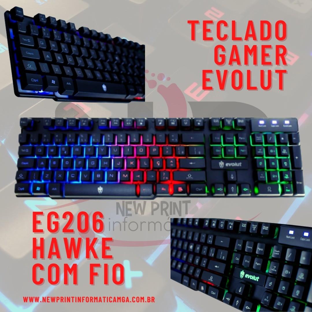 TECLADO GAMER EVOLUT - EG-206RB HAWKE