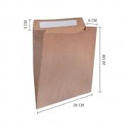 """Envelope de Papel E-Commerce (Sem impressão) """"P"""" 26x28x6 cm   1 pct c/ 100 unid"""