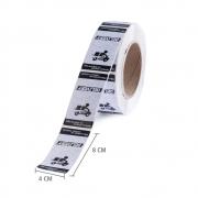 Etiqueta Lacre Delivery 4x8 cm - 1 rolo c/ 500 unid