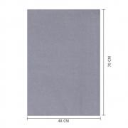 Papel de Seda Cinza 48x70 cm | 1 Pct c/ 100 folhas