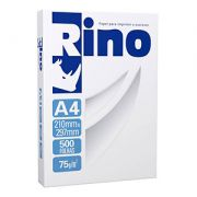 Papel Sulfite A4 75 gramas Rino - 1 pct c/ 500 folhas
