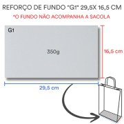"""Reforço de Fundo """"G1"""" 29,5x 16,5 cm   1 pct c/ 100 unid"""