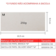 """Reforço de Fundo """"M"""" 22,5x 9,5 cm   1 pct c/ 100 unid"""