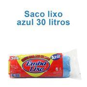 Saco de Lixo de 30 litros - Super Econômico Azul - Embalixo - 1 rolo c/ 50 sacos