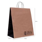 """Sacola de Papel Frases Delivery """"G2"""" 39x32x19 cm   1 cx c/ 100 unid"""