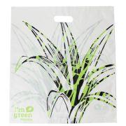 Sacola Plástico Verde Alça Vazada G 50x55 cm | Pct c/ 150 unid