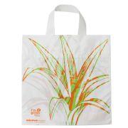 Sacola Plástico Verde Alça Flex M  35x38 cm | Pct c/ 100 unid