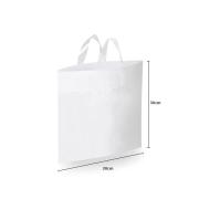 Sacola Plástico Alça Flex P (Sem Impressão) 30x30 cm   Pct c/ 100 unid