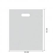 Sacola Plástico Alça Vazada M (Sem Impressão) 35x45 cm | Pct c/ 200 unid