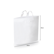 Sacola Plástico Verde Alça Flex M (Sem Impressão)  35x38 cm | Pct c/ 100 unid