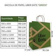 Sacola Uber Green | 34x30x17 cm | 1 cx c/ 100 unid