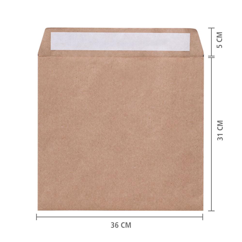 """Envelope de Papel E-Commerce (Sem Impressão) """"M"""" 31x36x6 cm   1 pct c/ 100 unid"""