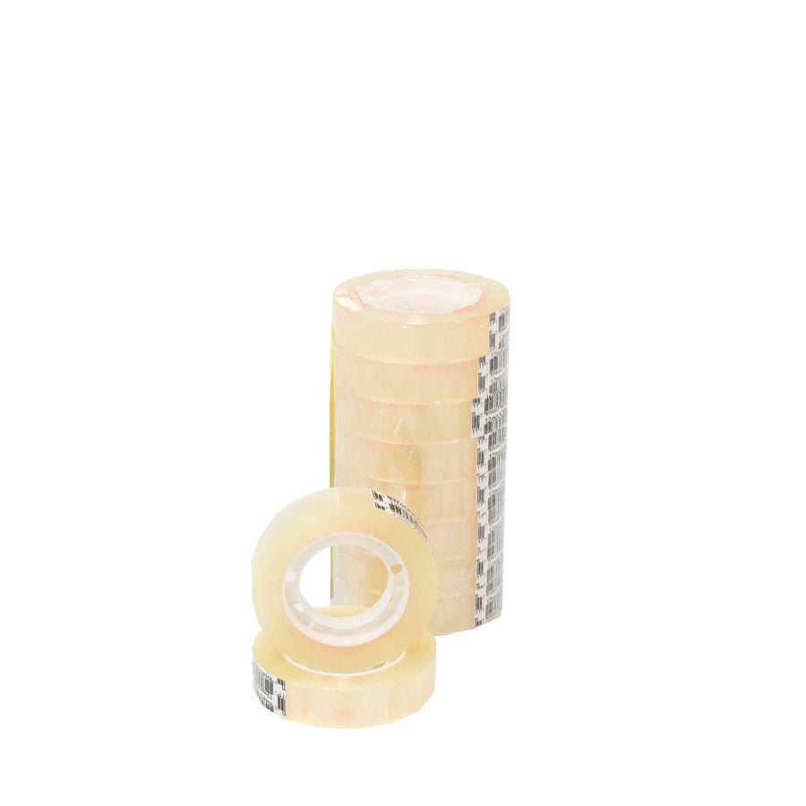 Fita adesiva transparente 12 mm x 30 metros - 1 pct c/ 10 rolos