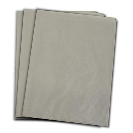 Papel de Seda Cinza 48x70 cm   1 Pct c/ 100 folhas