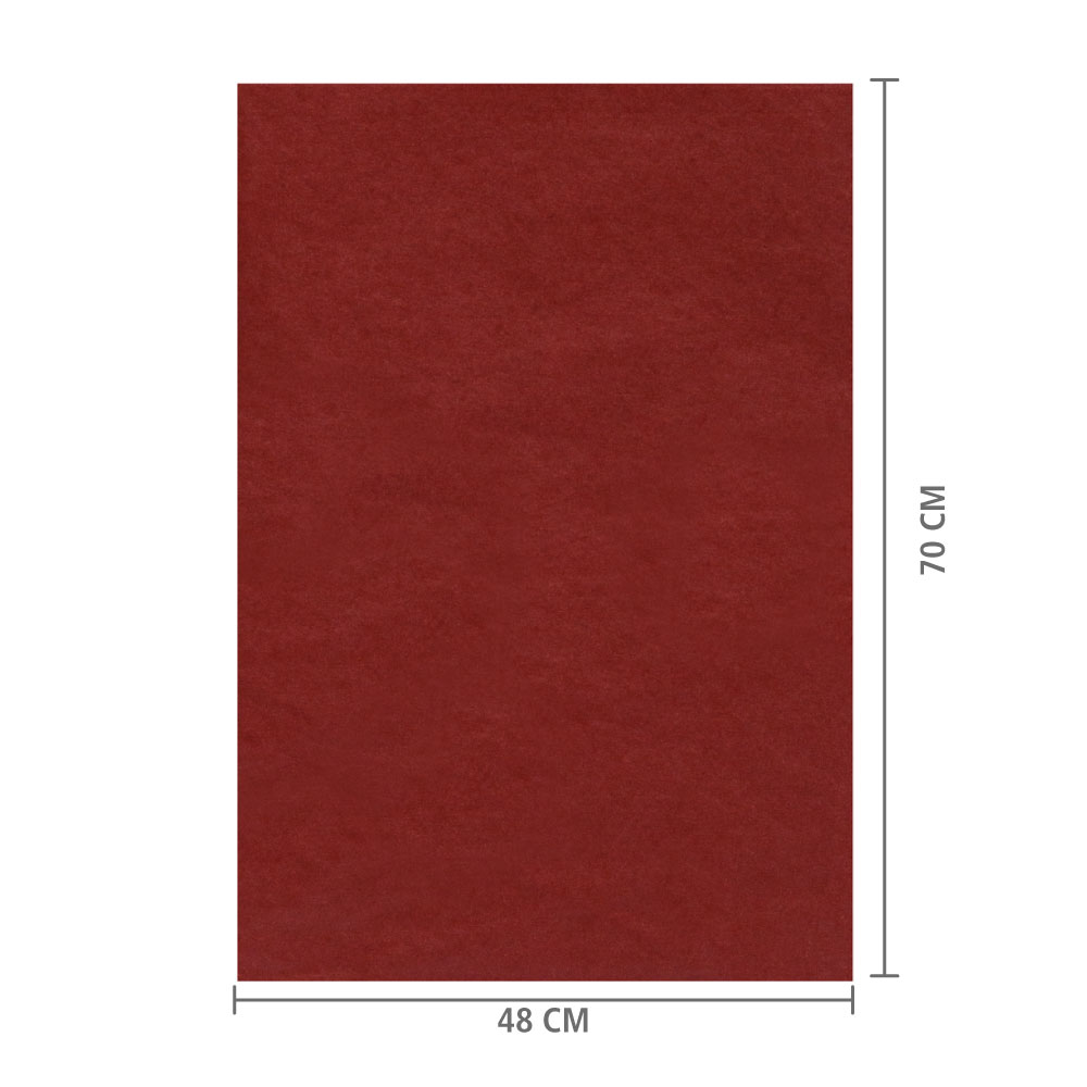 Papel de Seda Cobre  48x70 cm   c/ 100 folhas