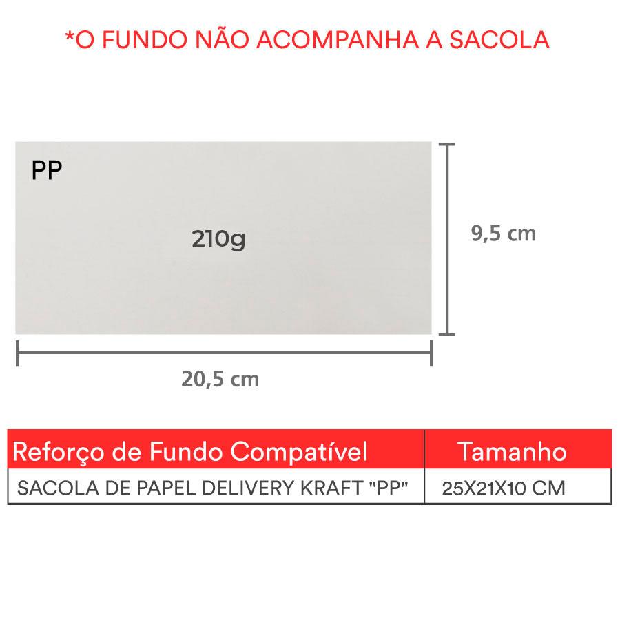 """Reforço de Fundo """"PP"""" 20,5x 9,5 cm   1 pct c/ 100 unid"""