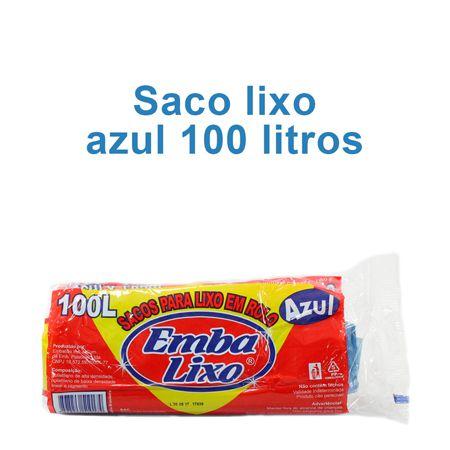 Saco de Lixo de 100 litros - Super Econômico Azul - Embalixo - 1 rolo c/ 25 sacos