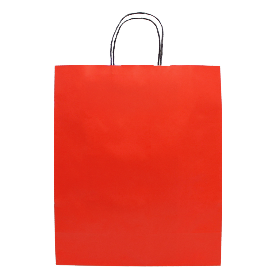 "Sacola de Papel Vermelho ""G"" 40x32x13 cm   1 cx c/ 150 unid"