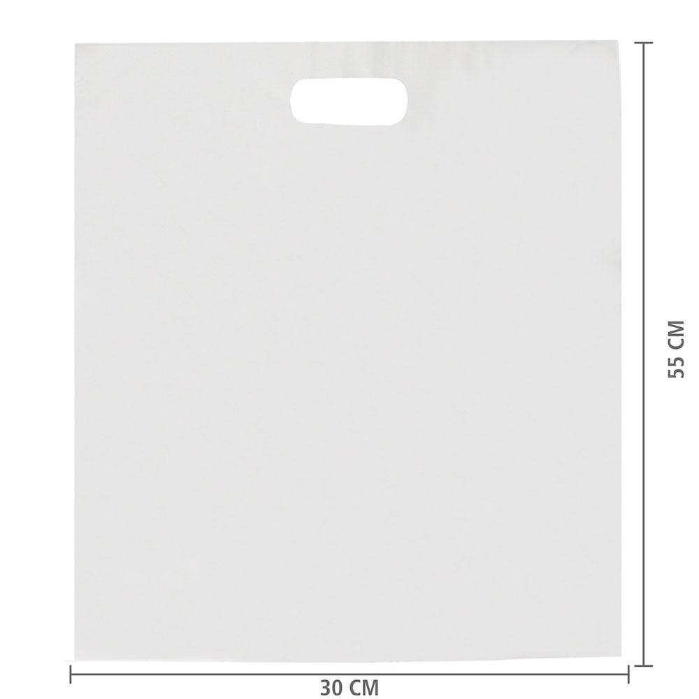 Sacola Plástico Alça Vazada G (Sem Impressão) 50x55 cm | Pct c/ 150 unid