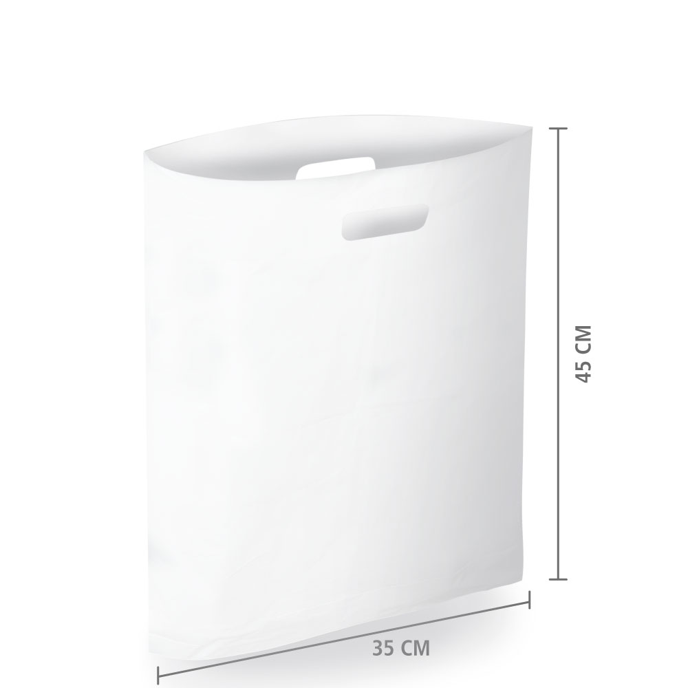 Sacola Plástico Alça Vazada M (Sem Impressão) 35x45 cm   Pct c/ 200 unid