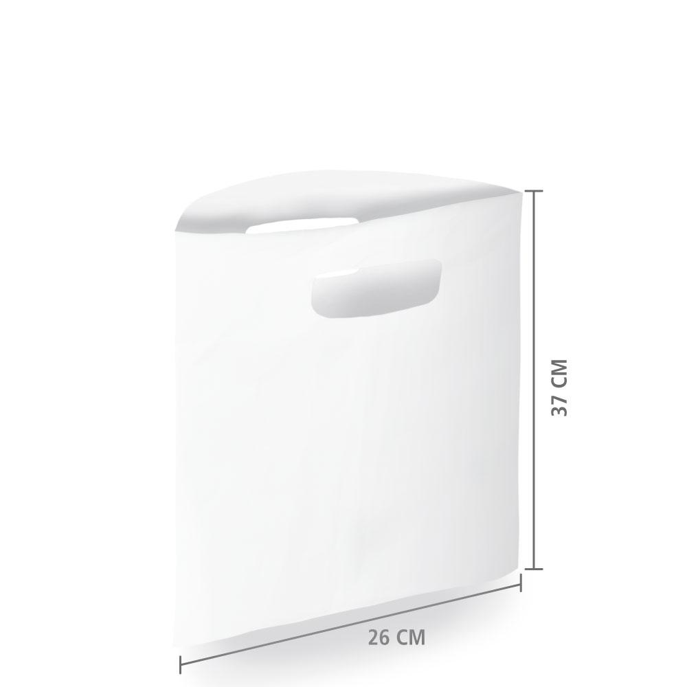 Sacola Plástico Alça Vazada P (Sem Impressão) 26x37 cm   Pct c/ 200 unid