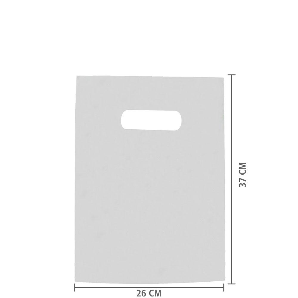 Sacola Plástico Alça Vazada P (Sem Impressão) 26x37 cm | Pct c/ 200 unid