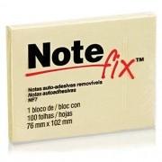 BLOCO NOTE FIX NF7 76MM X 102 MM 100 FOLHAS AMARELO