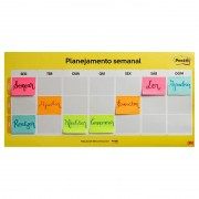 CALENDARIO SEMANAL POST-IT C/ 2 BLOCOS 38X50