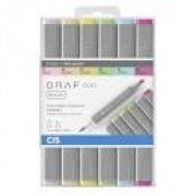 CANETA CIS GRAF BRUSH DUO KIT COM 6 CORES PASTEIS
