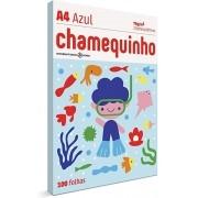 CHAMEQUINHO A4 100 FOLHAS - AZUL