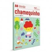 CHAMEQUINHO A4 100 FOLHAS - VERDE