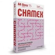 CHAMEX COLORS A4 75G 500 FOLHAS ROSA