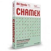 CHAMEX COLORS A4 75G 500 FOLHAS VERDE