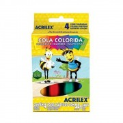 COLA COLORIDA ACRILEX CAIXA C/ 4 CORES 23G