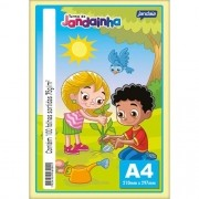 JANDAINHA A4 75G 100 FLS - COLORIDO 4 CORES (AM-AZ-VD-RO)