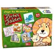 JOGO DA MEMORIA BICHOS E FILHOTES 54 PCS