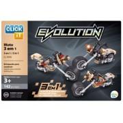 JOGO MONTAR CLICK IT EVOLUTION MOTO 3 EM 1 CL-EV06 142 PEÇAS - PLAY CIS