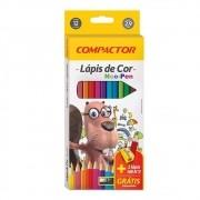 LÁPIS DE COR COMPACTOR 12 CORES NEO-PEN