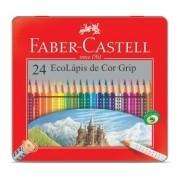 LÁPIS DE COR FABER-CASTELL 24 CORES GRIP LATA