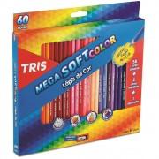LAPIS DE COR TRIS 60 CORES MEGA SOFT COLOR