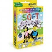 MASSINHA DE MODELAR SOFT GLITTER ACRILEX 90G 6 CORES