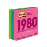 POST-IT 76X76 EDICAO LIMITADA ANOS 1980 (3 BLOCOS 90 FLS CADA) COLECAO NEON