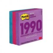 POST-IT 76X76 EDICAO LIMITADA ANOS 1990 (3 BLOCOS 90 FLS CADA) COLECAO NEON