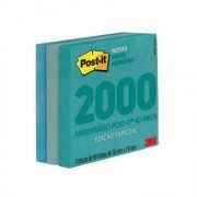 POST-IT 76X76 EDICAO LIMITADA ANOS 2000 (3 BLOCOS 90 FLS CADA) COLECAO AZUL