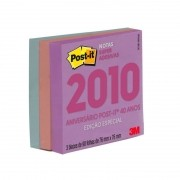 POST-IT 76X76 EDICAO LIMITADA ANOS 2010 (3 BLOCOS 90 FLS CADA) COLECAO PASTEL