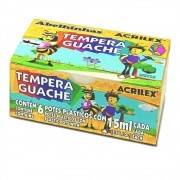 TINTA GUACHE ACRILEX 15 ML 6 CORES