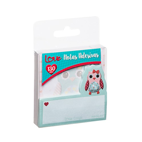BLOCO ADESIVO LOVE CORUJAS 130 FLS - MOLIN